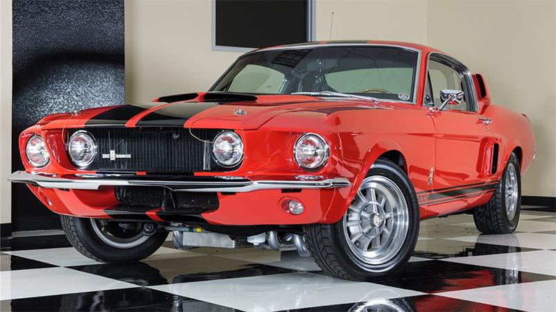 The Shelby Mustangs auctioned at Barrett-Jackson's Scottsdale auction include this 1967 GT500 once owned by former Van Halen frontman Sammy Hagar.