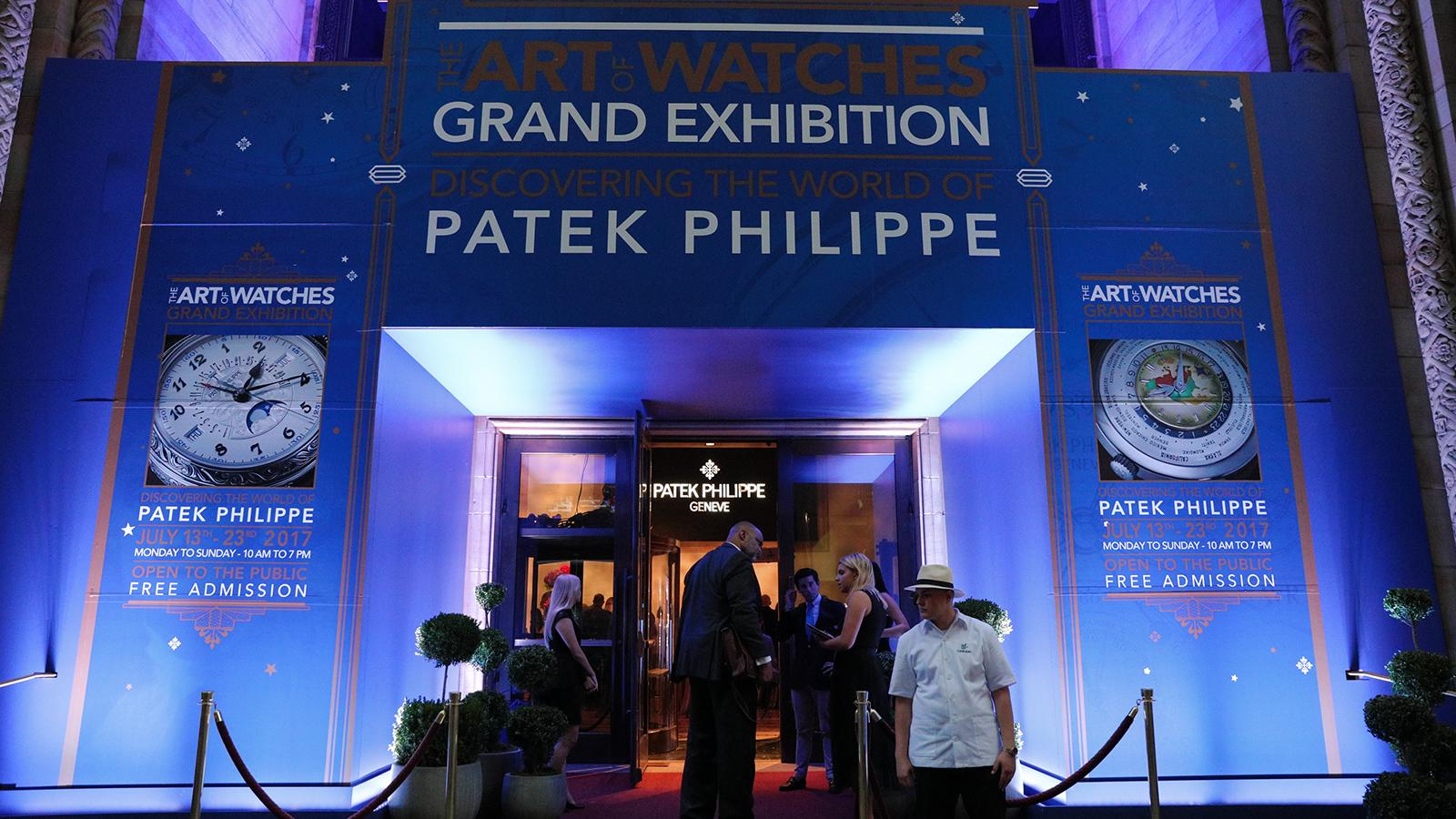 Patek Philippe's The Art of Watches Grand Exhibition New York 2017 is being held at Cipriani 42nd Street in New York City.