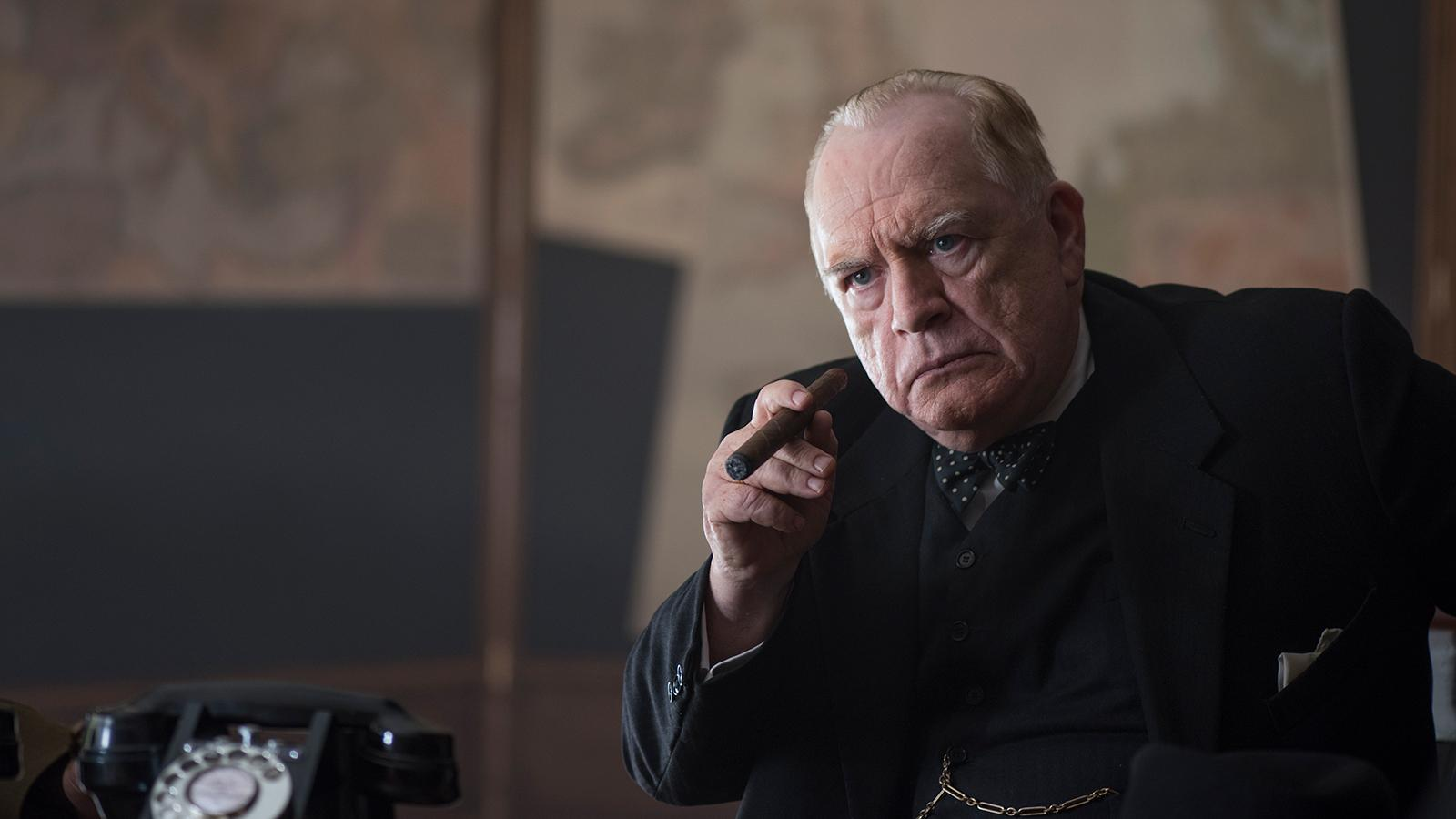 Actor Brian Cox plays Sir Winston Churchill in the eponymous film that opened last Friday.