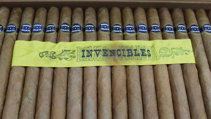 A box of 250 Romeo y Julieta Invencibles