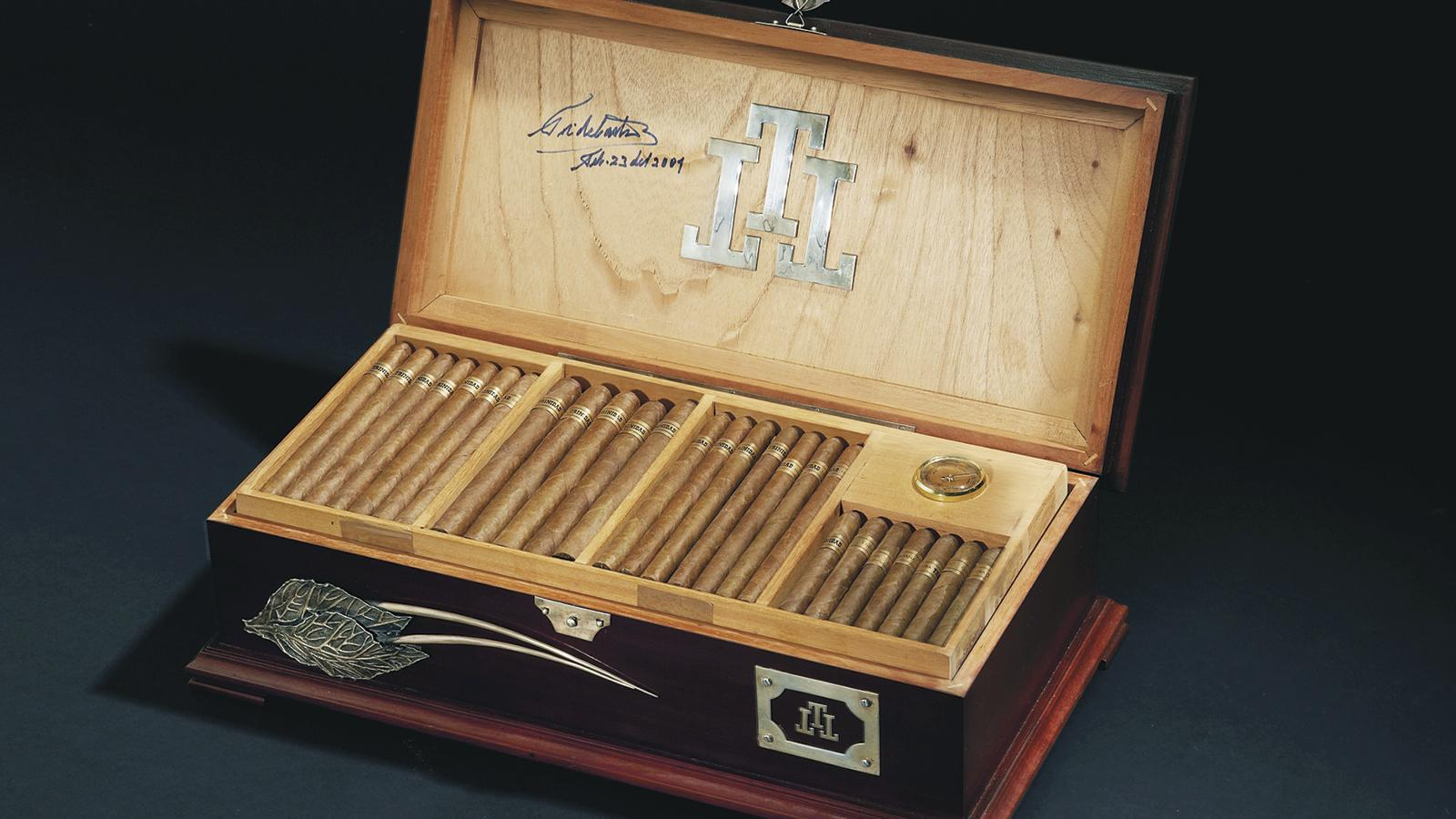 Cigar auctions offer the chance to acquire aged rarities. A unique Trinidad humidor signed by Fidel Castro sold for $172,000.