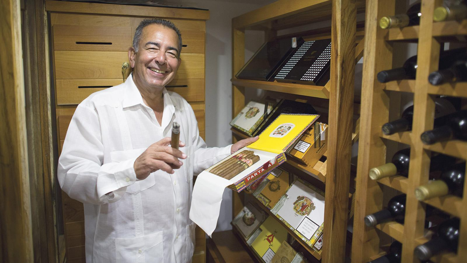 Abel Expósito Diaz spent 16 years running the Casa del Habano at the Partagás Cigar Factory. Today he manages a smaller cigar selection at Casa Abel.
