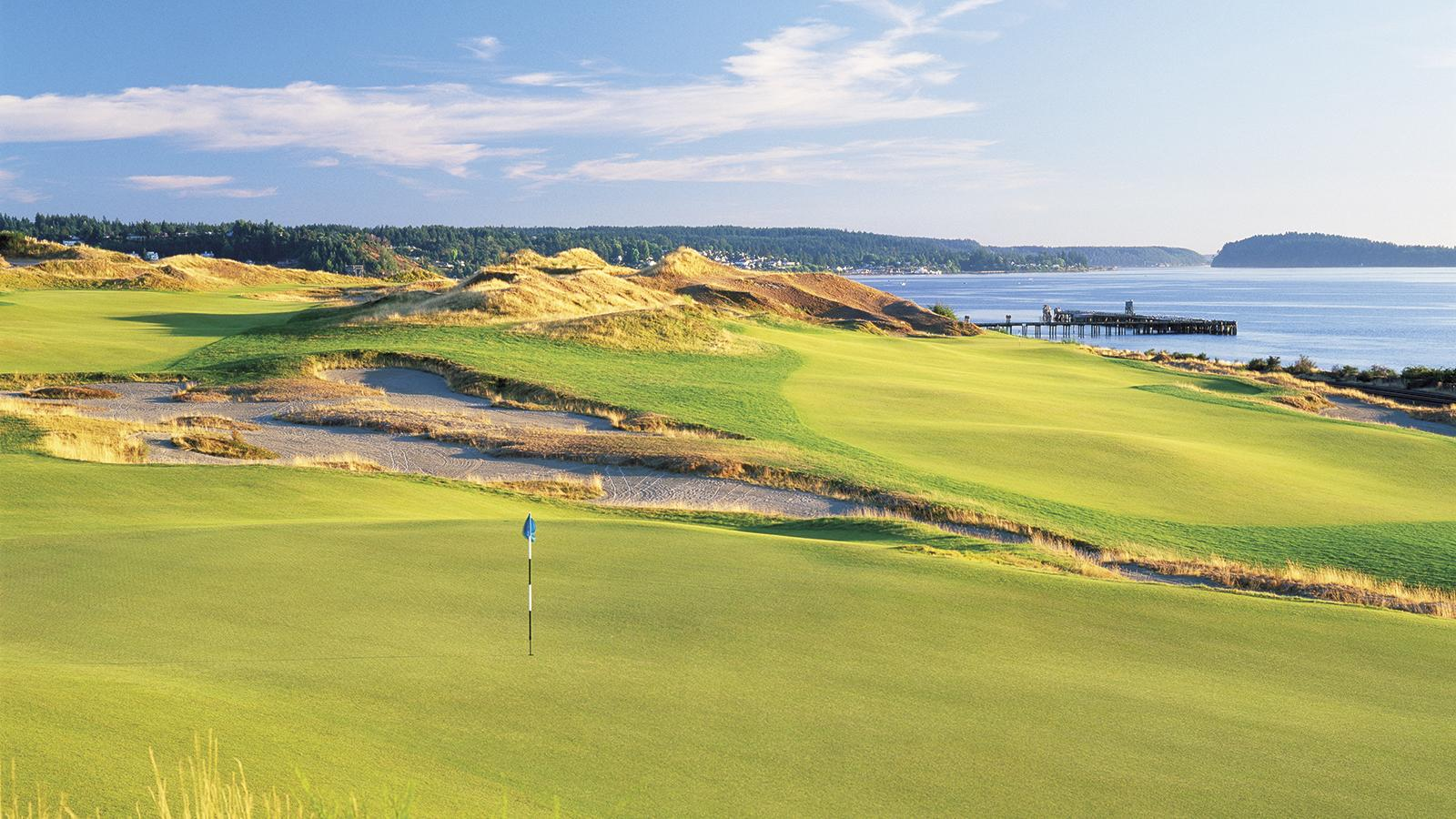 The stark, haunting beauty of Chambers Bay, the challenging and controversial site of the 2015 U.S. Open, which was designed by Robert Trent Jones Jr.