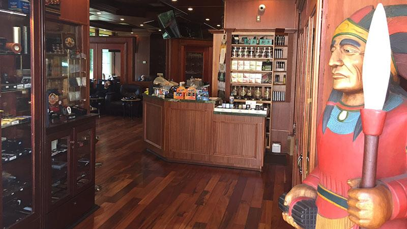 Fat Stogies Cigar & Lounge, located in the San Fernando Valley, has an excellent, well-stocked humidor featuring all your favorite brands and an open area lounge with comfortable leather chairs.