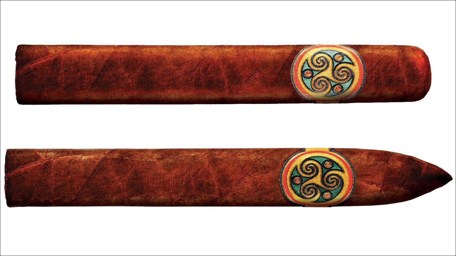 Bombay Tobak's Gaaja Maduro will feature a Toro (top), at 6 inches by 54 ring and Torpedo (bottom), at 6 1/2 by 54.