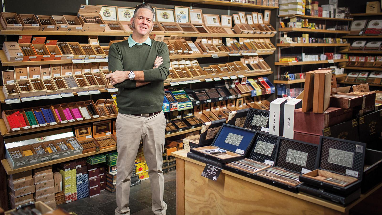 Giolito owns a Reno, Nevada, smoke shop called Fumare. Its walk-in humidor houses the Illusione portfolio as well as plenty of third-party cigar lines.