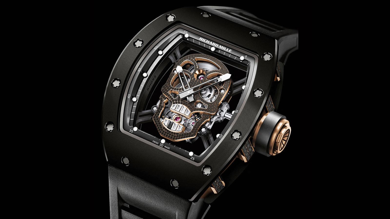 Richard Mille's RM 52-01 Tourbillon Skull Nano-ceramic ($720,000).