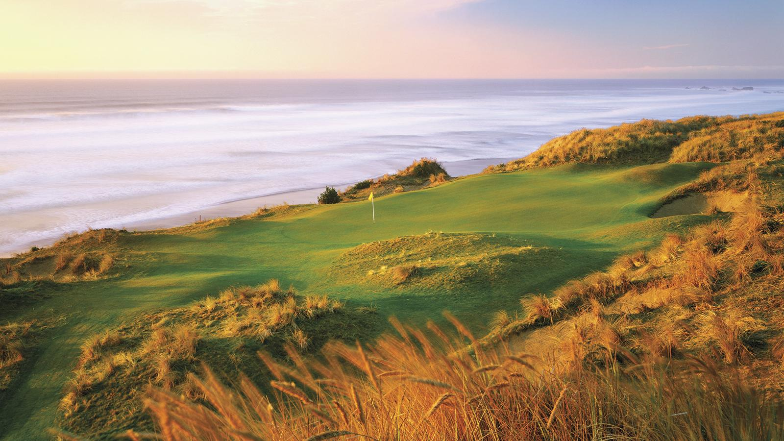 Bandon Dunes in Oregon has five courses, including the  No. 1 rated course in the United States, Pacific Dunes, as seen here from the 11th hole.