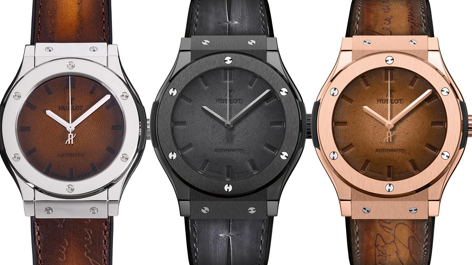 Hublot and Berluti Team Up To Create Special Leather Classic Fusions