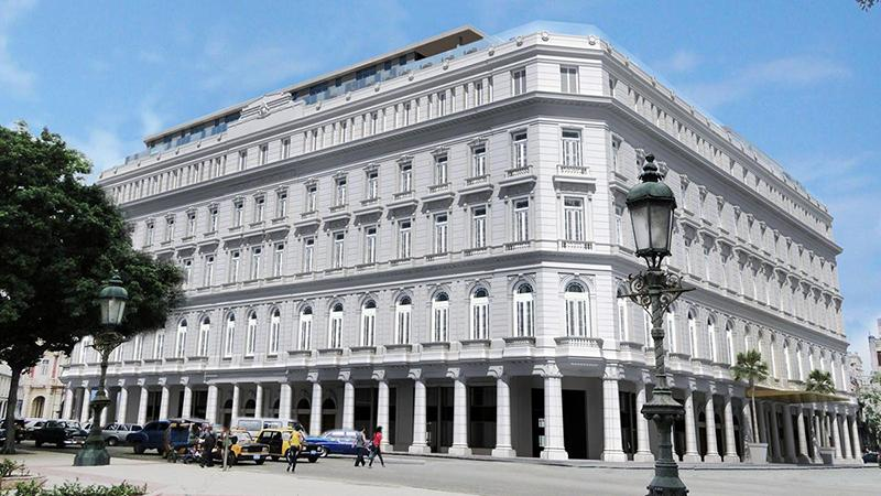 The Gran Hotel Manzana Kempinski la Havana is located in the old Manzana de Gomez building on the Parque Central.