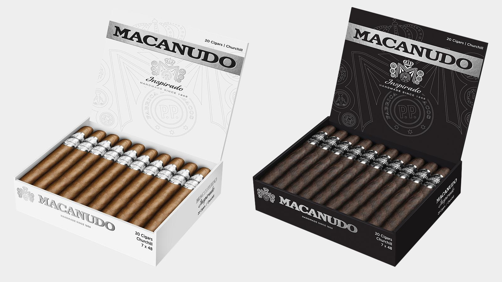 Macanudo Inspirado White will be covered in a light Connecticut-seed wrapper, while Inspirado Black dons dark broadleaf.