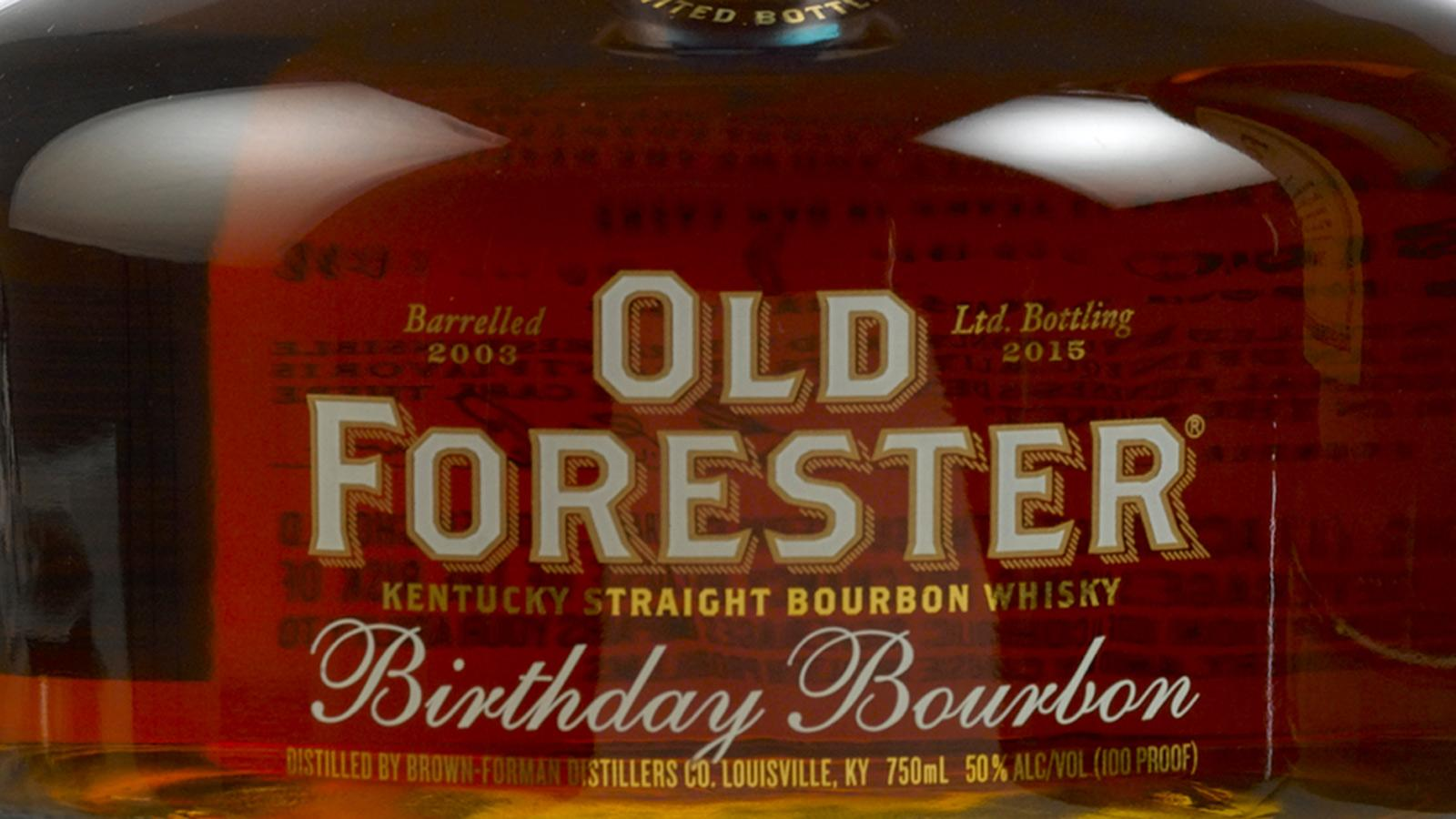 Cigar Pairing: Old Forester Birthday Bourbon