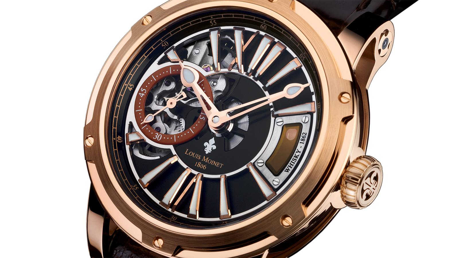 Louis Monet's Whisky Watch in 18-karat rose gold ($49,900).