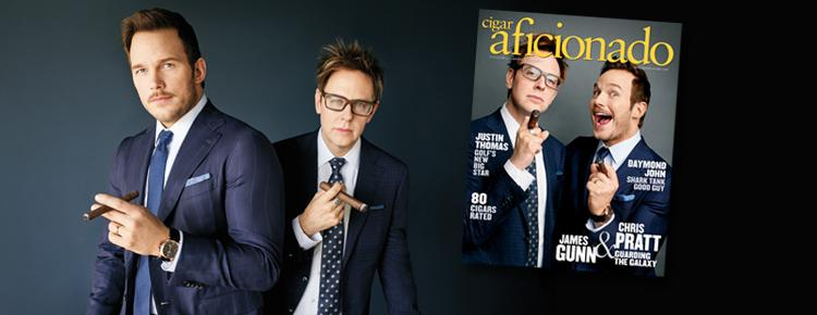 NEWSSTAND: June's <em>Cigar Aficionado</em> Featuring Chris Pratt And James Gunn