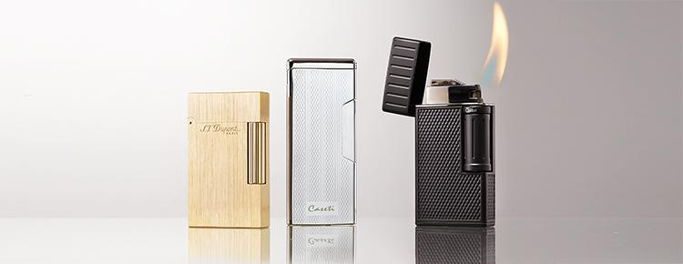 CIGAR GEAR: Soft-Flame Lighters From S.T. Dupont, Caseti And Colibri