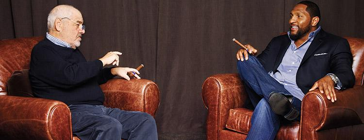 ONE-ON-ONE: Ray Lewis Tackles Tough Topics In October's <i>Cigar Aficionado</i>