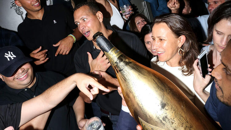 A-Rod's Giant Bottle of Jay Z's Champagne