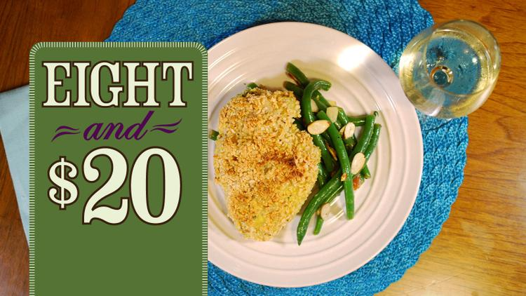 Cheese-Stuffed Chicken with Green Beans Amandine