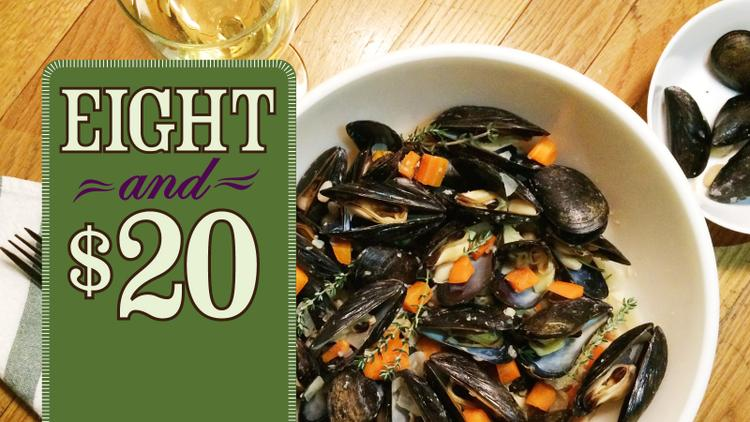 Steamed Mussels with Beans and Vegetables