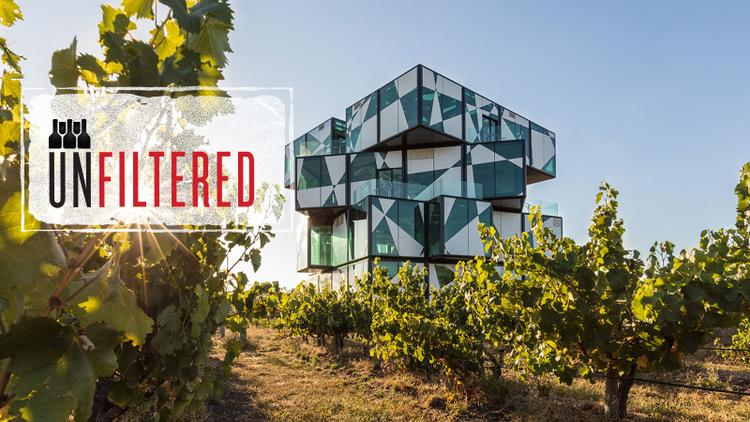 Extremely Trippy Giant Wine Rubik's Cube Arises