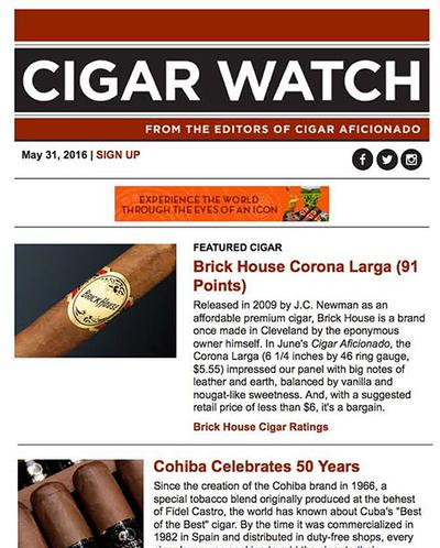 Cigar Watch newsletter