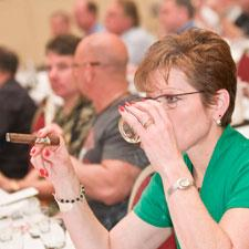 A Big Smoke attendee enjoying the Cognac seminar.