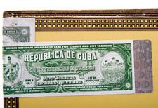 A close-up detail of Cuba's new export seal. Note the holographic sticker.