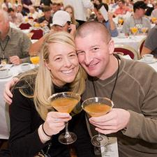 Amy Oxford and Shannon Mishey from Washington D.C. enjoying the Wild Turkey Bourbon Hayride.
