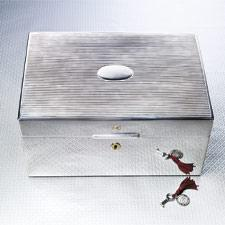 Daniel Marshall Sterling Silver Humidor