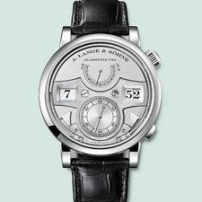 The genteel, luxurious appearance, and off-center arrangement of the displays on the Lange 1 was so exotic in the early years of the mechanical renaissance that it immediately hit home.