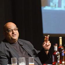 Nimish Desai of Rocky Patel Premium Cigars joined Bettridge in the rum and cigar tasting.