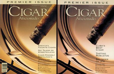 Cigar Aficionado premier issue covers.