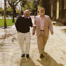 Marvin shanken and francis ford coppola walking