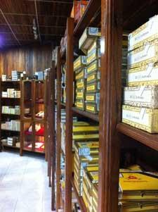 Cuban cigar shop.