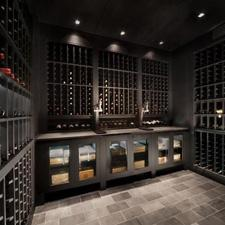 Fame Wine and Cigar Bar cellar.