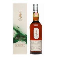 Lagavulin 21 Year Old 1991 bottle shot.
