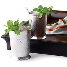 Mint julep cocktail.