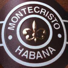 Closeup of new Montecristo cuban cigar band.