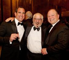 Jorge Padrón, of Padrón Cigars, Marvin R. Shanken, editor and publisher of Cigar Aficionado, and Chuck Wagner of Caymus Wines.