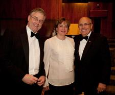 David and June Trone with Rudolph Giuliani (left to right).
