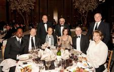 Fine dining: (seated left to right) Salley, Wagner, Michael Milken, Hazel Shanken, David and June Throne; (standing left to right) Mayor Rudolph Giuliani, Shanken and Rush Limbaugh.