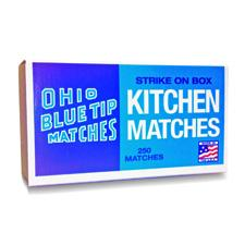 Original Ohio Blue Tips Matches Box.