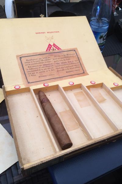 Old Montecristo box inside.