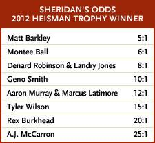 college football heisman odds.