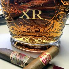 Crown Royal XR, My Father de las antillas, partagas senior