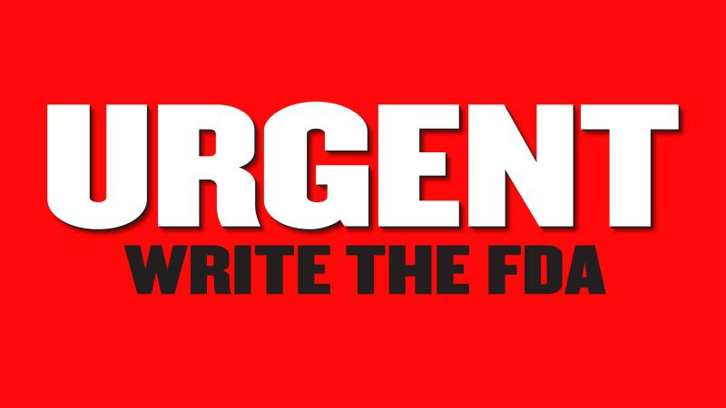Click Here To Join The Fight Against The FDA