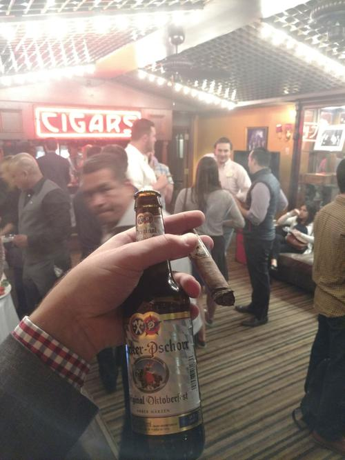 A Night of Cigars and German Beer