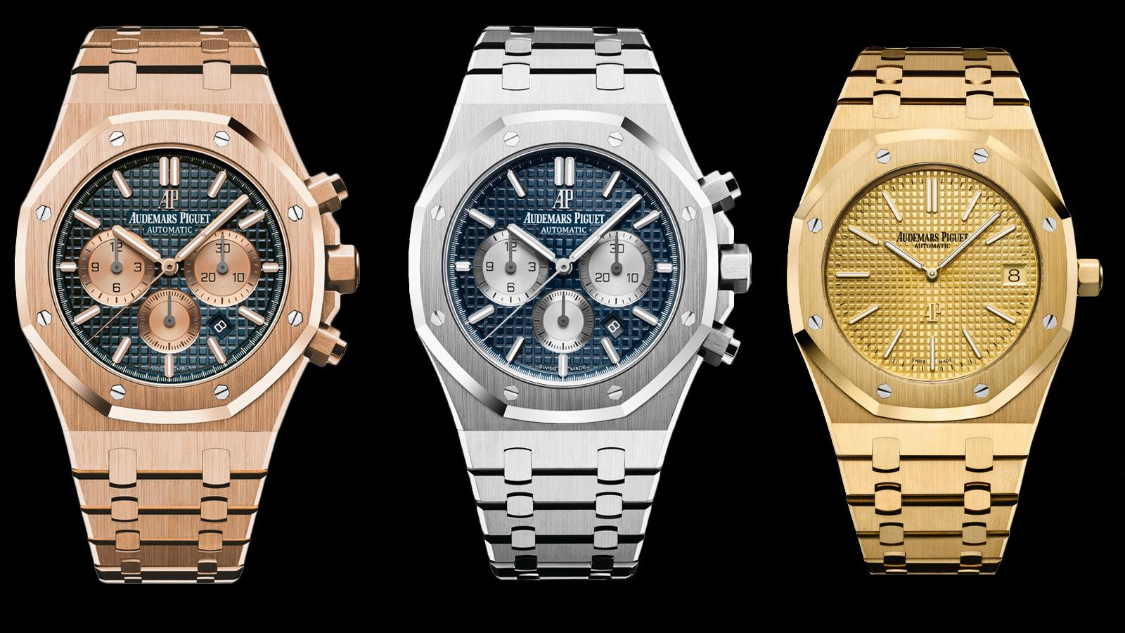 "Audemars Piguet's New Royal Oak Chronographs and Gold ""Jumbos"" Evoke The Seventies"