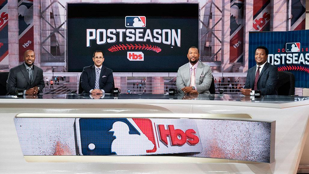 Sheffield on set with Pedro Martinez, Jimmy Rollins, and host Casey Stern.
