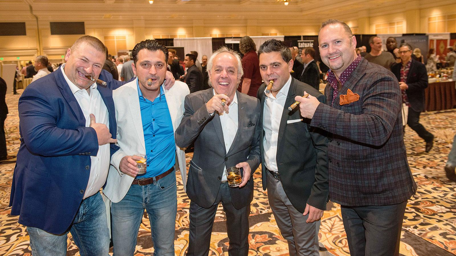 Carlos Salsa, Paulo Dias, Francois Castellon, Lucca Amicone and Ray Bourgeois looking sharp with their cigars.